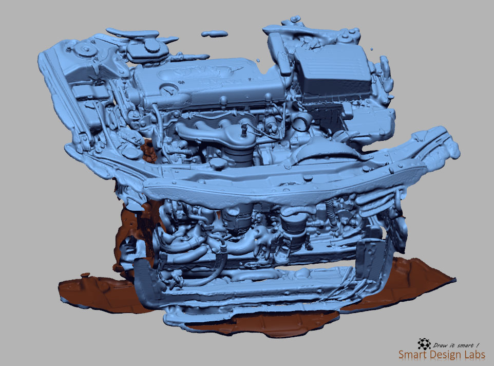 Quét 3D – Động cơ xe hơi
