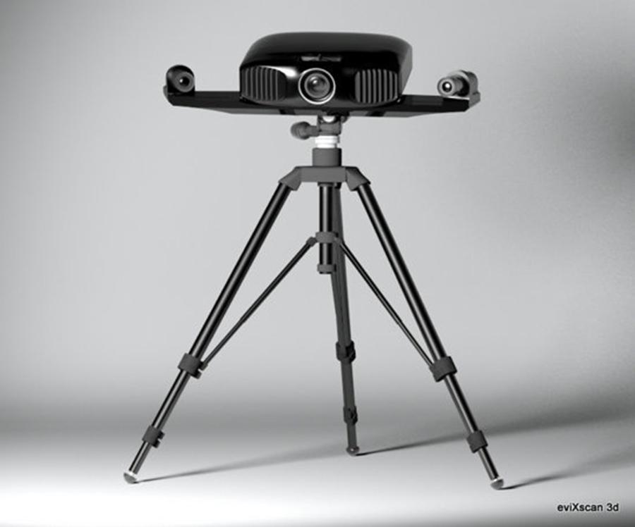 Máy quét 3D EviXscan 3D Pro+ trên chân đế